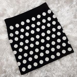 LOFT Knit Polka Dot Skirt Size Small NWT